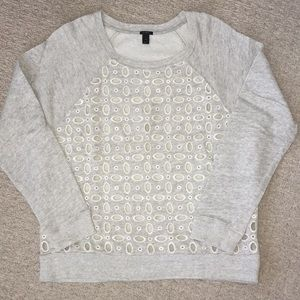 J Crew Cutout Pattern Sweatshirt